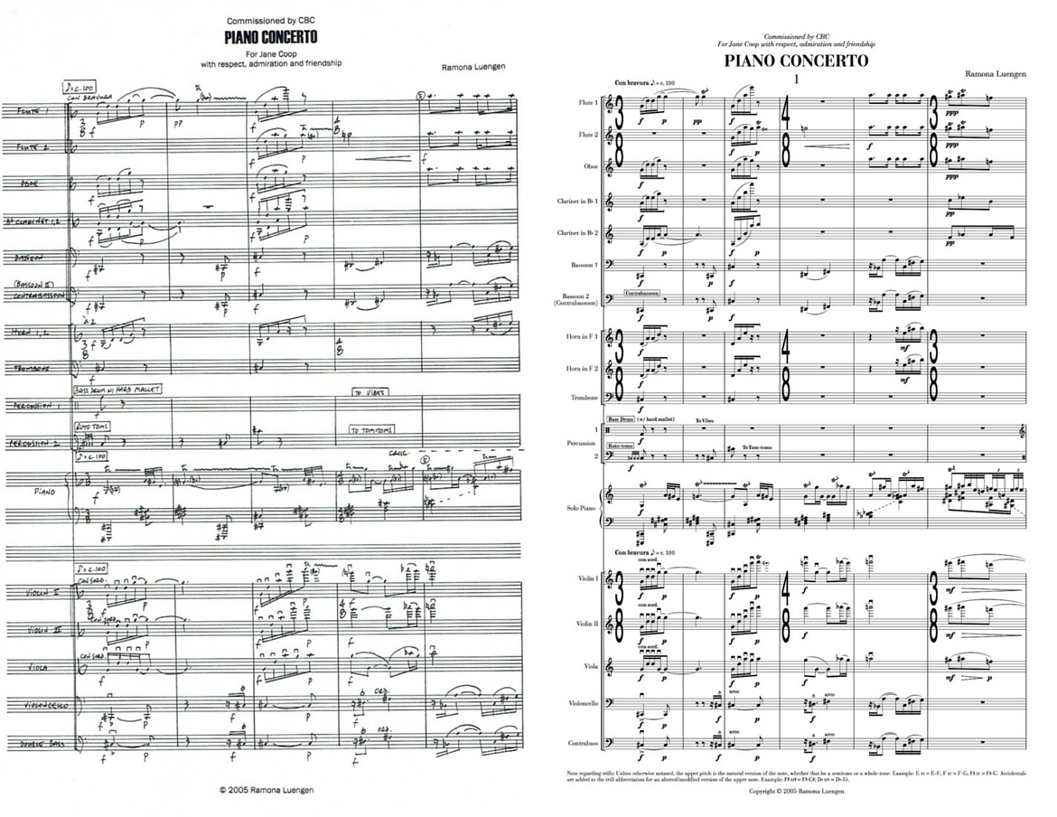 score example, Greg Hamilton Music Service, finale software, sibelius sofware, midi transcription, music preparation and copyist in Vancouver